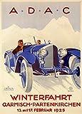 Vintage Automarke die 1925a.d.a.c Winterfahrt Garmisch
