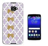 003251 - Gold glitter bow violet pattern Design Alcatel