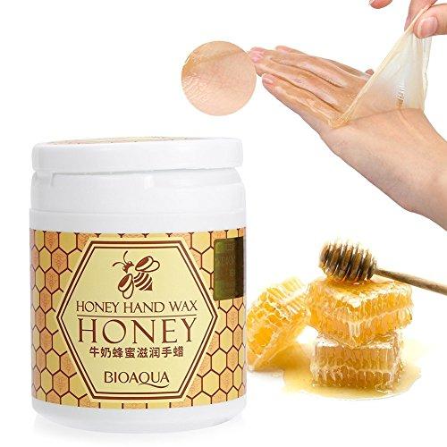170g / flasche hand masken, milch honig feuchtigkeitsspendende whitening feuchtigkeitsspendende handwachs maske hautpflege peeling nähren haut -
