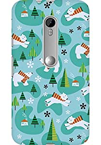 AMEZ designer printed 3d premium high quality back case cover for Moto G3 (christmas doodles)