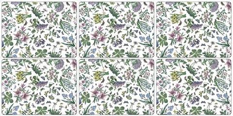 Pimpernel Lot de 6sets de table–Botanic Garden Chintz