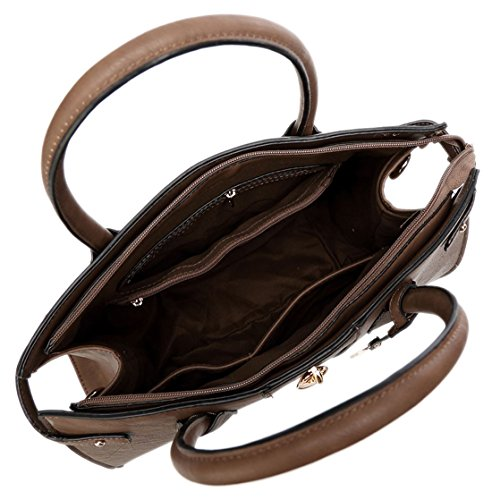 Tess Su Semplice Contrasto Pannello Design Tote Bag Con Sacchetto Raccoglipolvere Su Beige