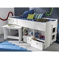 """Preisvergleich für Kombi-Bett Schreib-Schlaf-Kombi Etagenbett Schreibtisch Kinderzimmer """"Galen I"""""""