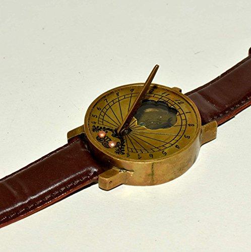 Hello.Nauticals.Store Sonnenuhr mit Kompass und Sonnenuhr, antikes Steampunk-Uhrwerk, Sonnenuhren.YUY76