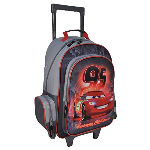 Mesh-trolley (KINDER TROLLEY 49x34x21 cm - DISNEY CARS COLLECTION - SCHWARZ / GRAU / ROT)