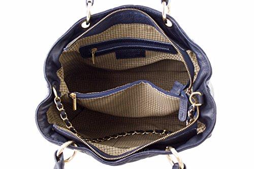 G&G pelletteria fiorentina borsa a spalla in vera pelle Blu