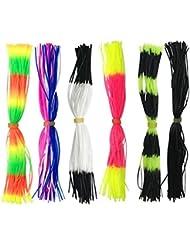 20 manojos de 30 y 50 hilos JSHANMEI® de colores, de silicona, para hacer tus propios señuelos, Type A