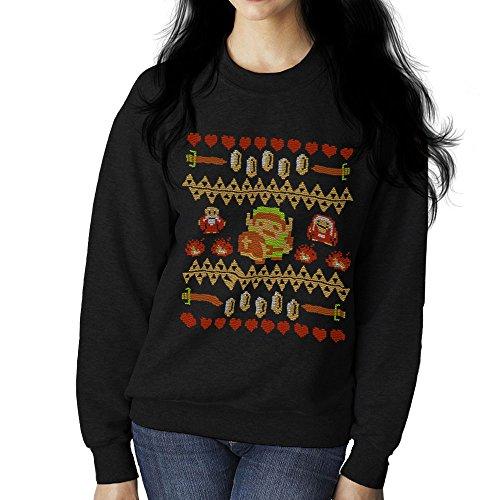 Dont Wear Alone Legend Of Zelda Knit Pattern Women's Sweatshirt Black