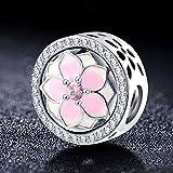 XINGXX accessori 925 Sterling Argento Vintage Sparkly Charms Bead Fit Originale Pandora Bead Bracelet & Bangles PSMB0727-SMT01