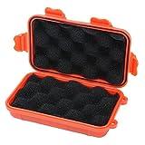 niceEshop(TM) Dry Storage Box Wasserdicht Schwimmdock Überleben Dry Case für Bootfahren , Kajak, Fischen, Jagen, Camping und Wandern (S, Orange)