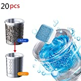 Detergente per lavatrice Compressa effervescente 20 compresse, Pulizia in profondità Decalcificante Detergente Rondella Detergente Ossigeno Decontaminazione
