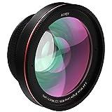 Aukey PL-WD05 Kit de 10 X Objectif Macro avec 0.6 X Objectif grand angle à 100 Degrés lentille pour iPhone 6/6 plus/6s/6s Plus/iPad/Samsung/Wiko/Tablette/etc. Noir