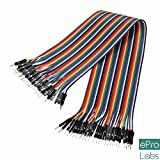 #8: REES52 RC0203002 Male to Male 40pin Dupont Jumper Wire, 40 Pieces, 20cm