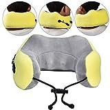 Cuscino di massaggio di ricarica USB, massaggiatore del collo intelligente a forma di U, cuscino da massaggio elettrico cervicale per il sonno dormire cuscino per massaggio elettrico cervicale