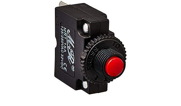 CA 125//250/V 15/A Limiteur de surcharge thermique de disjoncteur /électrique SPST