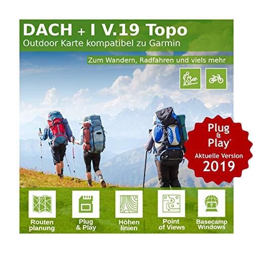 Dach V.19 - Outdoor Topo Karte passend für Garmin Navi - Perfekt zum Wandern, Geocachen, Bergsteigen und die Radtour Garmin Etrex Legend Gps-system