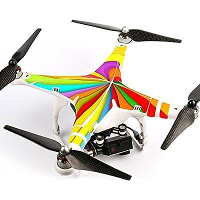 Ake Drone Body Skin Decals Shell Waterproof Sticker Kit for DJI Phantom 2 Vision - 6002