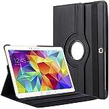 """Bingsale 360à° Housse en cuir pour Tablette tactile Samsung Galaxy Tab S 10,5"""" SM-T800 SM-T805 avec rabat/stand de positionnement support et le sort de veille (samsung galaxy tab s 10.5, noir)"""