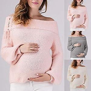 Amphia – Umstandsmode Tunika – Damen Schultergurt mit Umstandskleid Pulloveroberteil