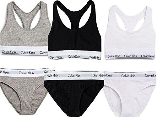 Calvin Klein - Women's Cotton Bralette and Briefs Underwear Set