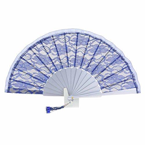 ventilatore di seta blu MARINO