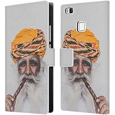 Ufficiale Luke Gram India II Ritratto Cover a portafoglio in pelle per Huawei P9 lite / G9 Lite