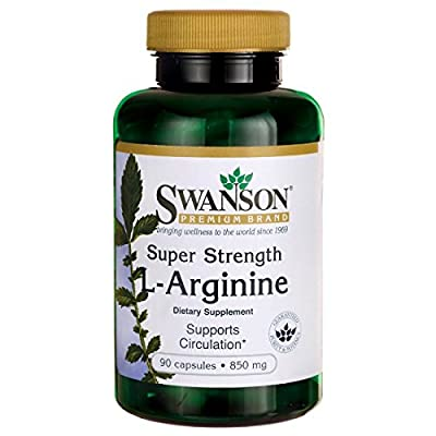 Swanson Super Strength L-Arginine - 850mg, 90 Capsules from Swanson Health Products