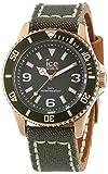Ice-Watch Unisex-Armbanduhr Canvas Khaki Analog Quarz Leder CA.KA.RG.U.C.14