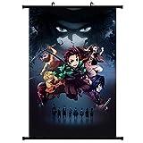 Gyrate Anime Demon Slayer: Kimetsu no Yaiba Wall Scroll HD Poster Home Decor Collection(Style02)