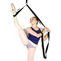 Bandas elásticas para estirar piernas, para ballet, danza y gimnasia, para ejercitar o entrenar en casa o gimnasio, negro