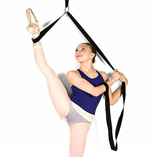 Beinspreizer, Dehnungsband für Ballett, Tanzen und Turnen, Training zuhause oder im Fitnessstudio, Bänder zur Dehnung der Füße, schwarz (Bein Spreizer)