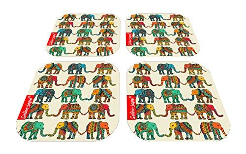 Selina-Jayne Elefanten Limitierte Auflage Designer Untersetzer-Set