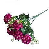 DAEDALUS dædalus ® 1Bouquet Großhandel von Fake Blumen Simulation Echte, natürliche Künstliche Chrysantheme für Home Office Party Tisch Decor Hochzeit Blumensträuße, Plastik, weinrot, Einheitsgröße