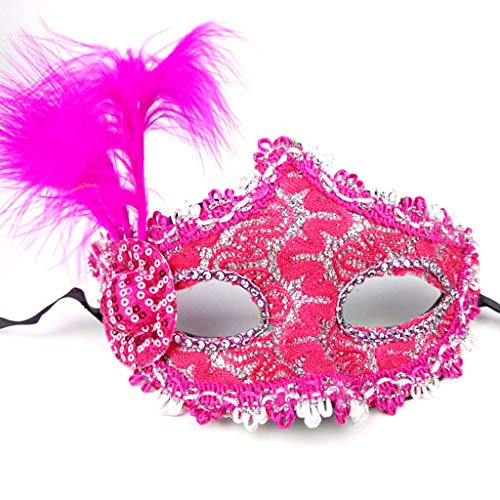 shaoyanger Patch kleine Hut Seite Feder Maske Maskenade Abschlussball Erwachsene Damen Herren Kostüm Party Performance - Anzahl Für Erwachsene Kostüm