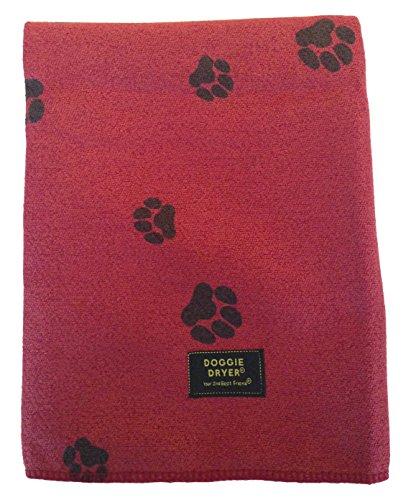 hundeinfo24.de Aquis Doggie Dryer Hundehandtuch, 75x140cm, Rot