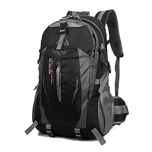 Imagen de 40l  bolsa de deporte escalada acampada al aire libre impermeable nylon negro