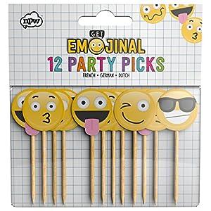NPW Emoticon Holz Cocktail Sticks Party-Picks Get emojinal