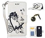 PU Cuir Coque Strass Case Etui Coque étui de portefeuille protection Coque Case Cas Cuir Swag Pour( Samsung Galaxy S5 Mini G800 )+Bouchons de poussière (1SJ)