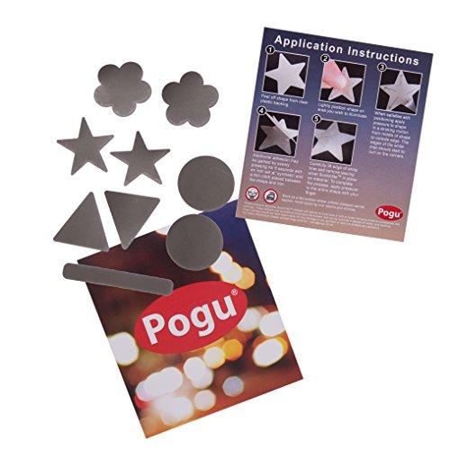 Pogu 3m Scotchlite–reflektierend Textil Aufkleber Pack–selbstklebend und zum Aufbügeln–Pferd, Reiten, Reitsport, Decke, Helme