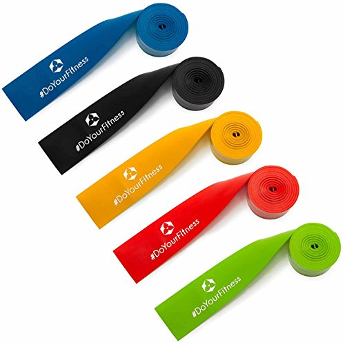 #DoYourFitness® Flossband - 2m Länge in 5 Stärken aus Latex | innovatives Kompressionsband für Behandlung von Gelenken & Muskeln - Voodoo Band Flossing Widerstandsband Flossbänder »Herculexx« blau