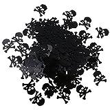 FLAMEER 15g Schädel Plastikkonfetti Tischkonfetti Streudeko Tischdeko für Halloween - 4
