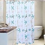 Duschvorhänge,Bad Trennwand Vorhang Wasserdicht Anti Schimmel Verdicken Sie-A 120x180cm(47x71inch)