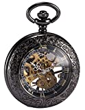 AMPM24 Steampunk Skeleton Mechanical Copper Fob Retro Pendant Pocket Watch + AMPM24 Gift Box WPK164 Bild 7