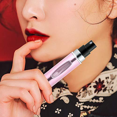 ZWOOS 4 Pieza Atomizador Perfume Recargable,  5ml Botella Vacío Pulverizador Viaje en Bolso,  Bomba Recargable Perfume Spray Frasco