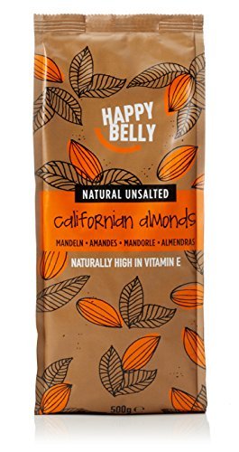 Marque Amazon - Happy Belly - Amandes entières, 500 g