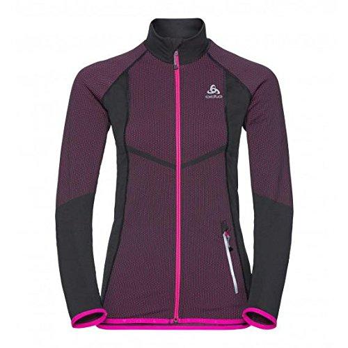 Odlo Velocity Midlayer Full Zip Jacket Women - odlo graphite grey/pink glo