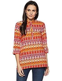 Amazon Brand - Myx Women's Cotton Short Kurta