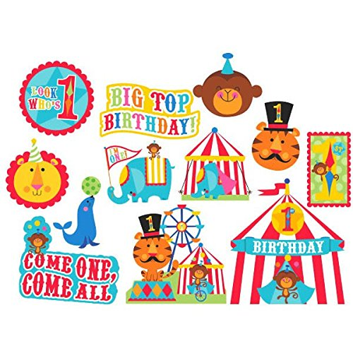 Circus 12-Paper Cutouts (Assortment) (Gesicht Malen Halloween-ideen)