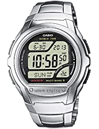 Casio Wave Ceptor – Herren-Armbanduhr mit Digital-Display und Edelstahlarmband – WV-58DE-1AVEF