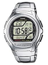 Casio Wave Ceptor Homme Digital Quartz Montre avec Bracelet en Acier Inoxydable WV-58DE-1AVEF